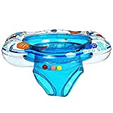 Baby Double Airbags Floating PVC Inflatable Baby Swim Float Seat Swimming Ring (01, Blue)