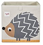 3 Sprouts Organizer Container Cube Storage Box for Kids & Toddlers, Hedgehog