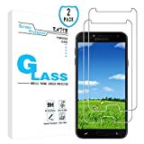 KATIN Galaxy J4 2018 Screen Protector - [2-Pack] Tempered Glass for Samsung Galaxy J4 (2018) Screen Protector Bubble Free, Easy to Install with Lifetime Replacement Warranty