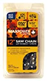 MaxPower 336528 12 Inch Chainsaw Chain Fits Craftsman, Echo, Poulan and Many Other Brands (S45)
