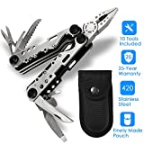 Multi-Plier,Banne 10-in-1 Portable Stainless Steel Multi Tool With Plier,Knife,Screwdriver,File,Saw,Opener and Nylon Sheath