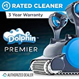 Dolphin Premier Robotic Pool Cleaner with Powerful Dual Scrubbing Brushes and Multiple Filter Options, Ideal...