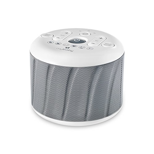 MyBaby, Deep Sleep SoundSpa White Noise Machine | 6 Sounds: Heartbeat, Soothe, Mask, Calm, Ocean & Twinkle, Twinkle | AC Adapter (Included) or 4 AAA Batteries (Not Included) | Compact & Portable