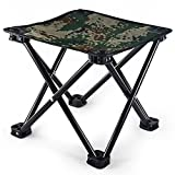 Poit Mini Folding Camping Stool Chair, Portable Camping Fishing Chair, Up to 441lbs Weight Capacity