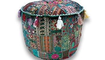 Tremendous Icrafts Home Decorative Ottoman Handmade Pouf Indian Creativecarmelina Interior Chair Design Creativecarmelinacom