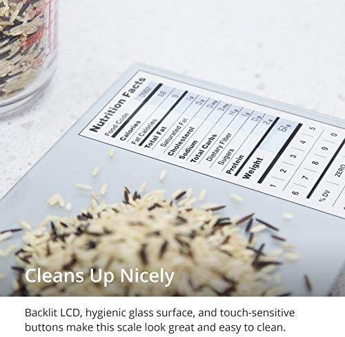 GreaterGoods Nourish Digital Kitchen Food Scale, Not-Connected, Digital Food Code App Download Included (New Backlit) 7