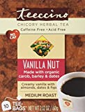 Teeccino Vanilla Nut Herbal Coffee Medium Roast Caffeine Free 10 Tee Bags