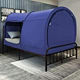 Bed Tent Dream Tents Bed Canopy Shelter Cabin Indoor Privacy Pop Up Warm Breathable Full Size for Kids and Adult Patent Pending Navy(Mattress Not Included)