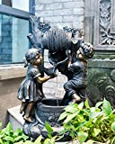 CYA-DECOR Water Fountains Outdoor, Garden Waterfall Fountains with Children,30 Inches Height