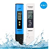 PH Meter, Digital Water Quality Test TDS PH EC Temperature 4 in 1 Set for Water, Indoor, Pool and Aquarium