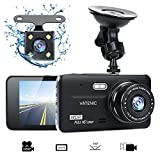 Dual Dash Cam Car Dashboard Camera Recorder FHD 1080P Front And Rear Cameras ,Driving loop Recording ,4.0 ' IPS Screen 170°Wide Angle, WDR ,Parking Monitor, G-Sensor, Night Vision, Motion Detection