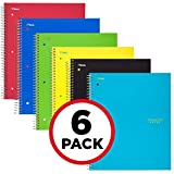 Five Star Spiral Notebooks, 1 Subject, Graph Ruled Paper, 100 Sheets, 11' x 8-1/2', Assorted Colors, 6 Pack (73549)