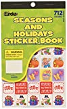 Eureka Back to School Classroom Supplies Assorted Seasons and Holidays Sticker Book, 712 pcs