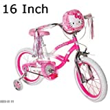 Kids, Childrens, Toddlers, Tricycles, Bikes with Training Wheels (Hello Kitty, 16 Inch)