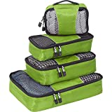 eBags Classic Small/Medium Packing Cubes for Travel - Organizers - 4pc Set - (Grasshopper)
