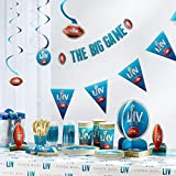 Party City Super Bowl Deluxe Tableware Supplies for 18 Guests, Include Plates, Napkins, a Table Cover, and Decorations