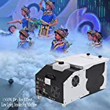 Ridgeyard 1500W Low-Lying Dry Ice Effect Fog Machines 2.5L Ground Smoke Fogger with Wireless Remote Control Great for Stage Effecting Wedding Christmas Party Show Theater