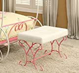 Product review for Furniture of America Ashley Fairy Tale Leatherette Bench, Pink & White