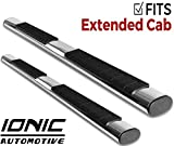 Ionic Voyager Plus Stainless Steel Running Boards 1999-2013 Chevy Silverado GMC Sierra Extended Cab