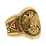 UNIQABLE Gold Scottish Rite 32 Degree Masonic Knights Templar 14K Freemasonry Signet Ring KTR005Y14K (10)