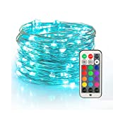 YIHONG Fairy Lights USB Plug-in String Lights with RF Remote 33ft Twinkle Lights Color ChangeFirefly Lights,13 Vibrant Colors, Fade|Flash|Strobe Mode