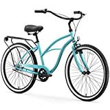 sixthreezero Around The Block Women's 3-Speed Cruiser Bicycle, Teal Blue w/ Black Seat/Grips, 26' Wheels/17' Frame