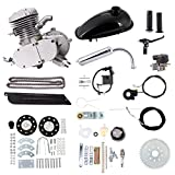 Niome 80cc 2-Stroke Bicycle Gasoline Engine Air-Cooled Motor Kit for Motorized Bicycle Push Bike Silver