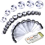 BodyJ4You 37PC Big Gauges Kit Ear Stretching Balm 00G-20mm Clear Spiral Tapers Plugs Piercing Set