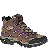 Merrell Women's Moab 2 Vent Mid Hiking Boot, Bracken/Purple, 8 M US