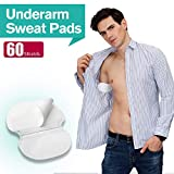 Underarm Sweat Pads - Voerou Fight Hyperhidrosis Keep Your Armpits Fresh All Day [60 Pack] for Men and Women Underarm Armpit Sweat Pads Shield Dress Shields Sweat Guard