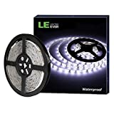LE 12V LED Strip Light, Flexible, Waterproof, SMD 2835, 16.4ft Tape Light for Christmas, Home, Kitchen and More, Daylight White
