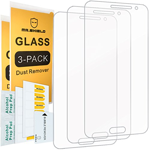 [3-PACK]- Mr Shield For Samsung Galaxy J3 / Galaxy J3 (2016) [Tempered Glass] Screen Protector [0.3mm Ultra Thin 9H Hardness 2.5D Round Edge] with Lifetime Replacement Warranty