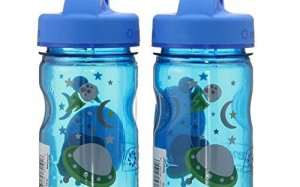 NALGENE Tritan Grip-N-Gulp BPA-Free Water Bottle (Space Blue, 2 Count)