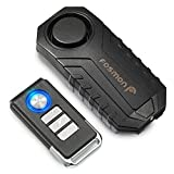 Fosmon Anti Theft Burglar Bike Alarm with Remote, Waterproof Vibration Triggered Battery Operated Loud 113dB Wireless Siren for Bicycle, E-Bike, Motorcycle, Scooter, Cart, Trailer, Equipment, Fence