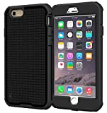 roocase iPhone 6s Plus Case - roocase [VersaTough] iPhone 6s Plus Rugged Armor Full Body Tough Case for Apple iPhone 6 Plus / 6s Plus (2015), Granite Black