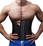 TAILONG Slimming Underwear Body Shaper Waist Trainer Belt Men Workout Back Support Trimmer for Weight Loss (Black, L)