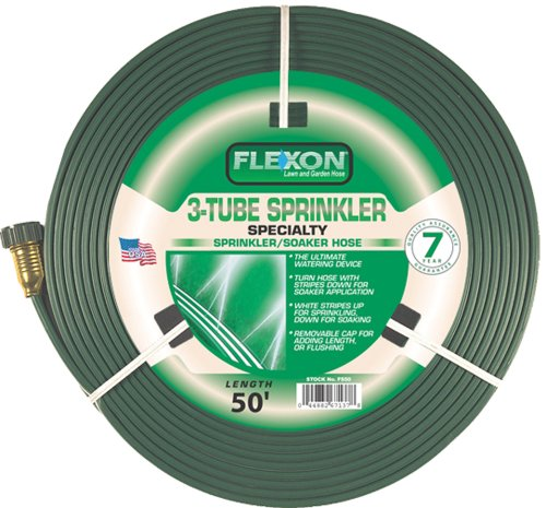 Flexon 50-Foot Three Tube Sprinkler Hose FS50