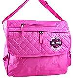 Harley-Davidson Nylon Womens Messenger Bags Hdk84868 Hot Pink Licensed Harley Davidson Messenger Bag Hd 14.5 X 13 X 4.5 Inches Pink