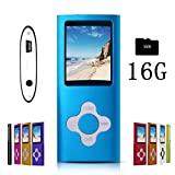 G.G.Martinsen Azure Stylish MP3/MP4 Player with a 16GB Micro SD Card, Support Photo Viewer, Mini USB Port 1.8 LCD, Digital Music Player, Media Player, MP3 Player, MP4 Player