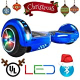XtremepowerUS Self Balancing Scooter Hoverboard UL2272 Certified, w/Bluetooth Speaker and LED Light (Blue)