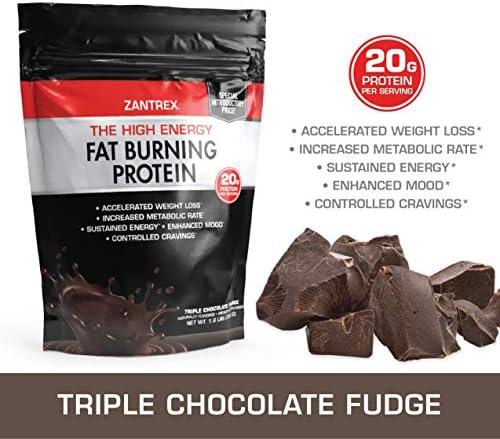 Zantrex High Energy Fat Burning Protein Tasty Shake™, Triple Chocolate Fudge, 22 Ounces 4