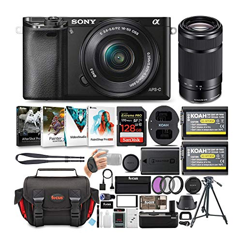 Sony-Alpha-a6000-243-MP-Mirrorless-ILC-with-16-50mm-and-55-210mm-Lens-Ultimate-Camera-Bundle
