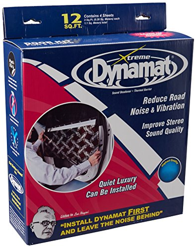 """Dynamat 10435 12"""" x 36"""" x 0.067"""" Thick Self-Adhesive Sound Deadener with Xtreme Door Kit"""