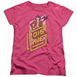 DC Comics Lois Lane Womens Short Sleeve Shirt Hot Pink MD