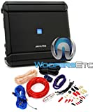 pkg Alpine MRV-M500 1-Channel 500W RMS 1000W Max V Power Series Car Amplifier + Power Pro PD-4Kit 2500W 4 Gauge Complete Amplifier Installation Kit