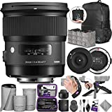 Sigma 24mm F1.4 Art DG HSM Lens for Canon DSLR Cameras + Sigma USB Dock with Altura Photo Essential Accessory and Travel Bundle