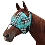 Product review for Kensington Fly Mask with Webbing Trim, Black Ice Plaid, Large