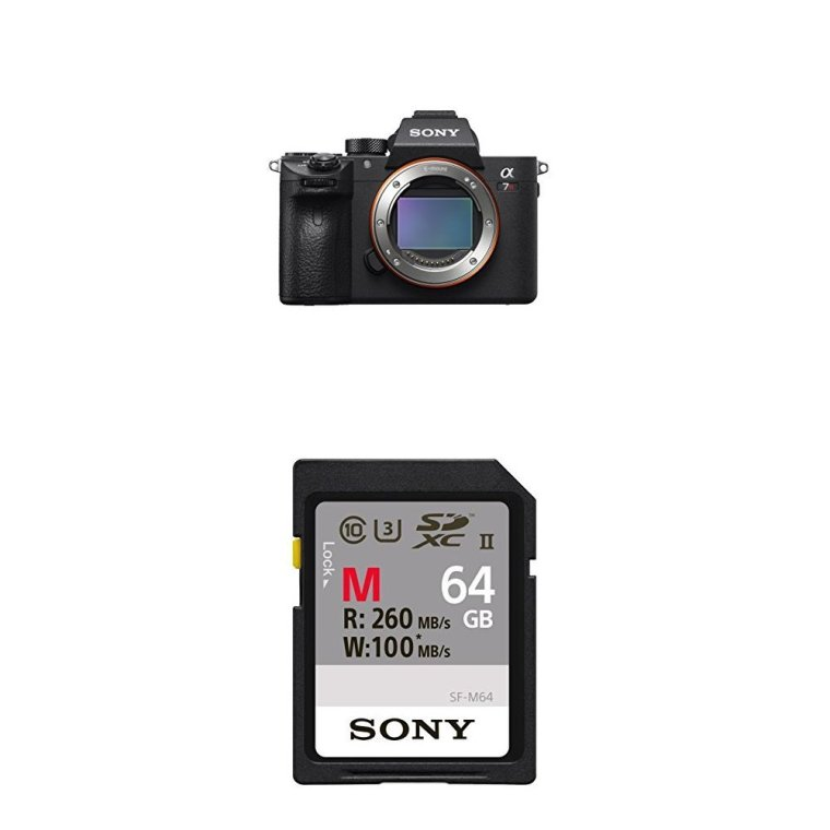 Sony a7R III 42.4MP Full-frame Mirrorless Interchangeable-Lens Camera and 64GB memory card
