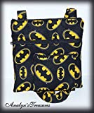 Batman Quilted Crossbody Bag and Coin Pouch Set, Crossbody Bag, Crossbody Bag and Coin Pouch, Batman Bag, Hipster Bag, Sling Bag, Shoulder Bag, Quilted Bag