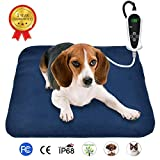 RIOGOO Pet Heating Pad, Electric Heating Pad for Dogs and Cats Indoor Warming Mat with Auto Power Off 18' x 18'